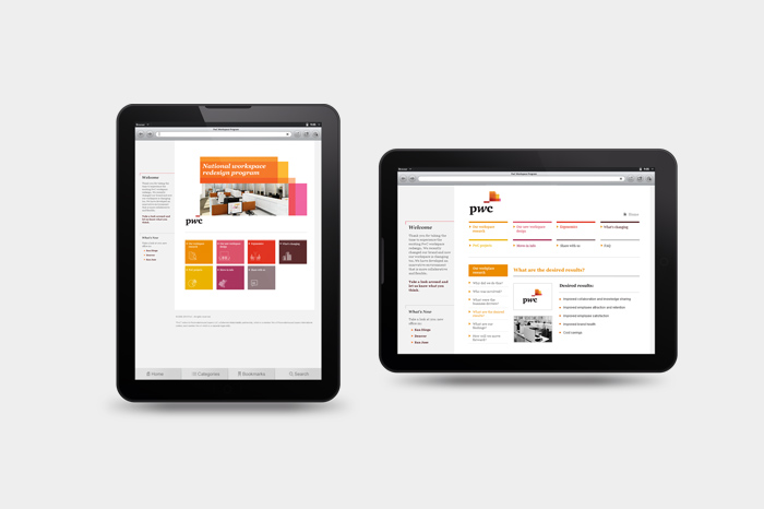 Web-based visual design tool for PwC